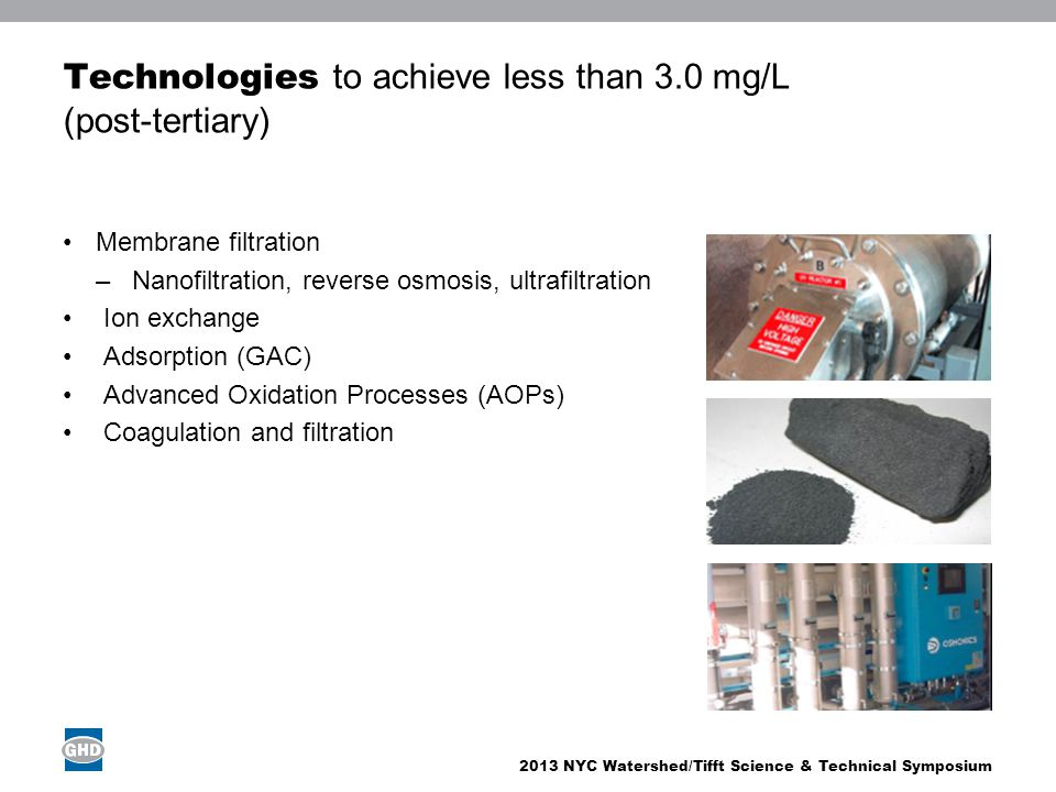 Technologies to achieve less than 3.0 mg/L (post-tertiary)