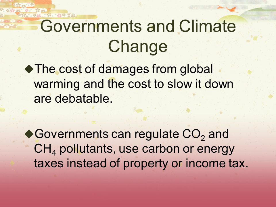 Governments and Climate Change