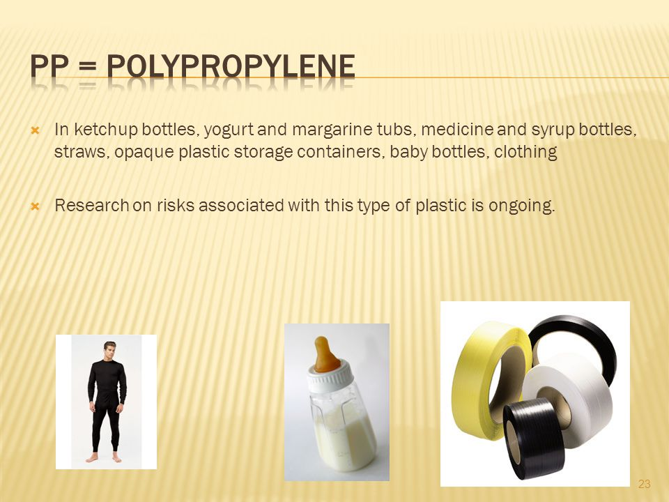 PP = polypropylene