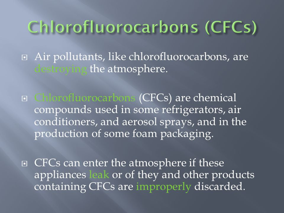 Chlorofluorocarbons (CFCs)