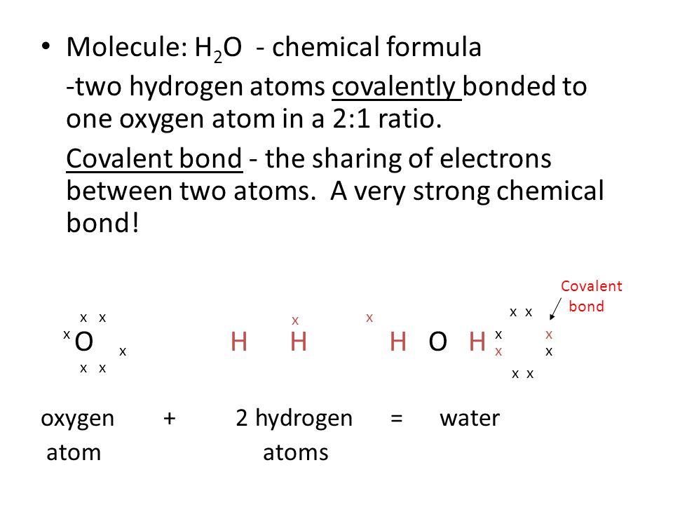 Molecule: H2O - chemical formula