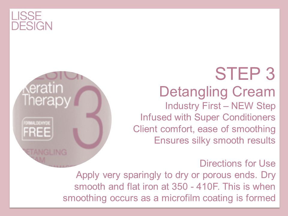 STEP 3 Detangling Cream Industry First – NEW Step