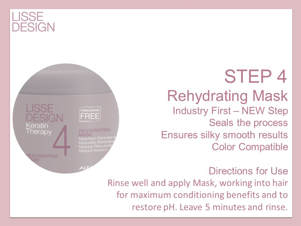 STEP 4 Rehydrating Mask Industry First – NEW Step Seals the process