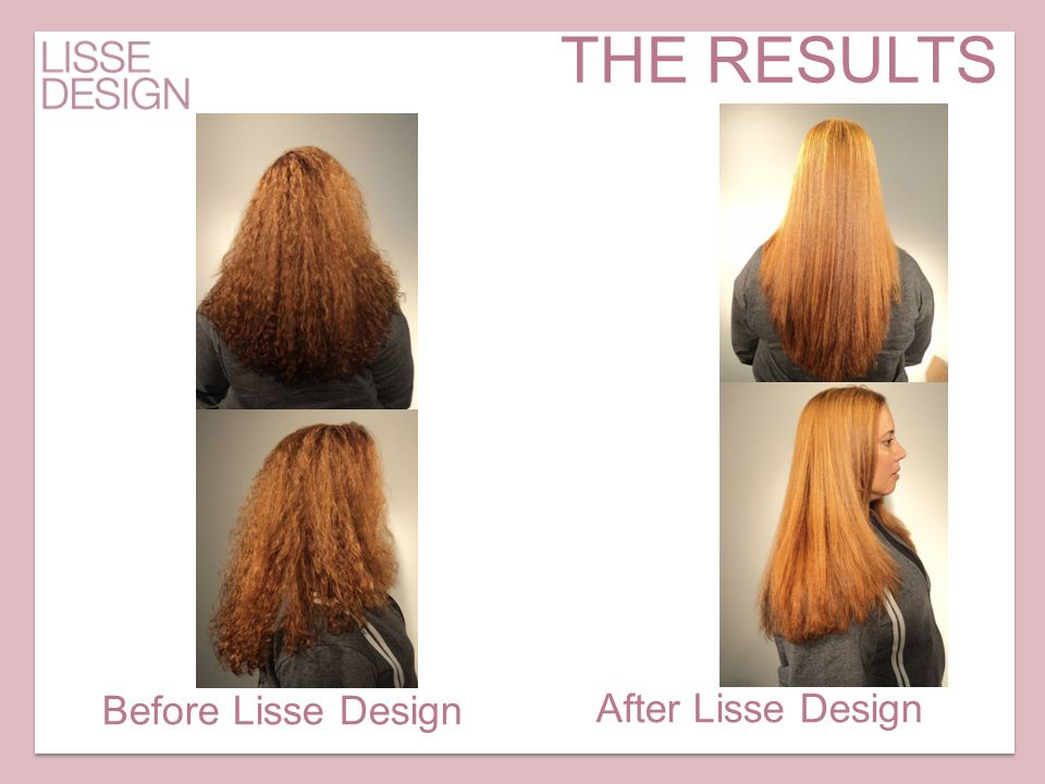 THE RESULTS Before Lisse Design After Lisse Design