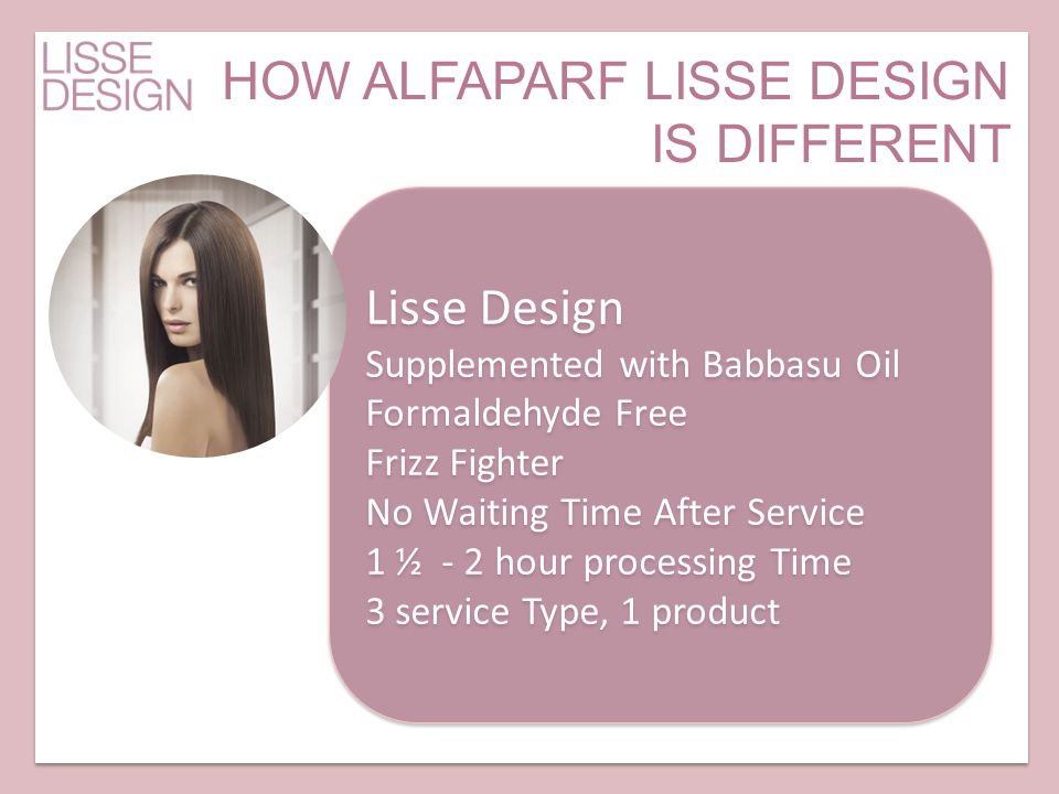 HOW ALFAPARF LISSE DESIGN IS DIFFERENT
