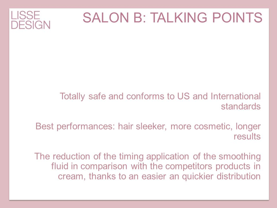 SALON B: TALKING POINTS