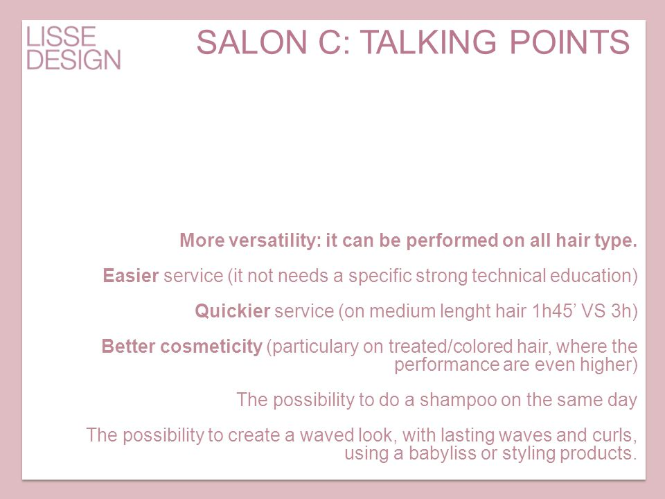 SALON C: TALKING POINTS