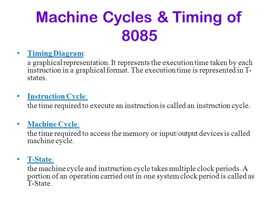 Machine Cycles & Timing of 8085