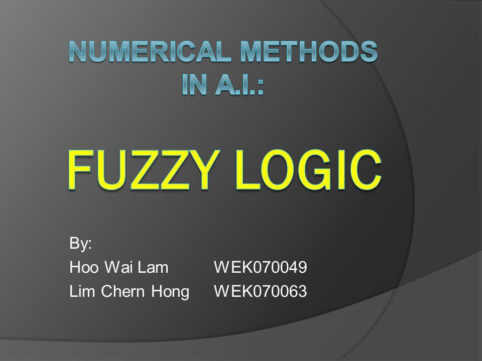 Numerical Methods in A.I.: Fuzzy Logic