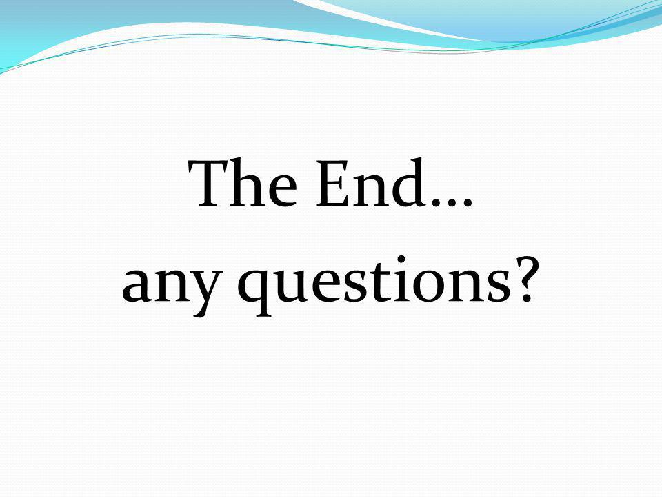 The End… any questions