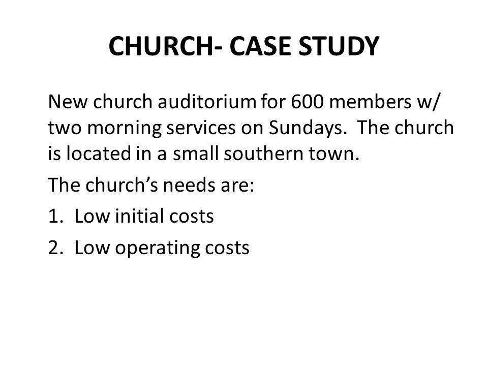 CHURCH- CASE STUDY