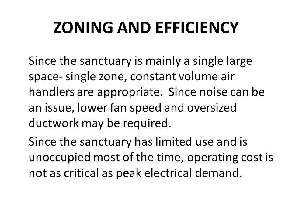 ZONING AND EFFICIENCY
