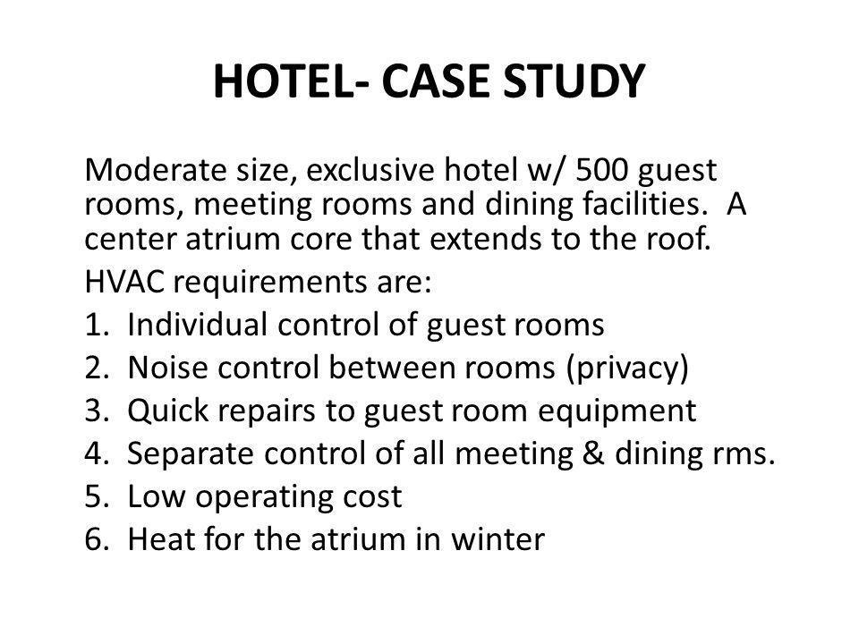 HOTEL- CASE STUDY