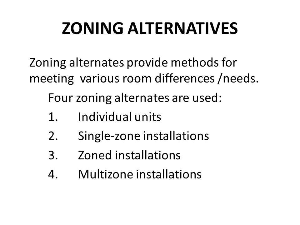 ZONING ALTERNATIVES