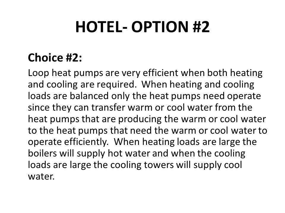 HOTEL- OPTION #2