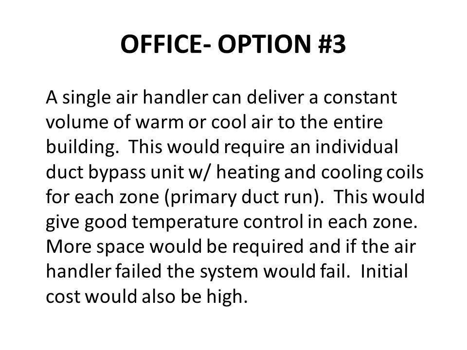 OFFICE- OPTION #3
