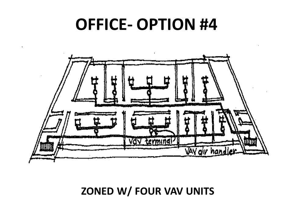 OFFICE- OPTION #4 ZONED W/ FOUR VAV UNITS