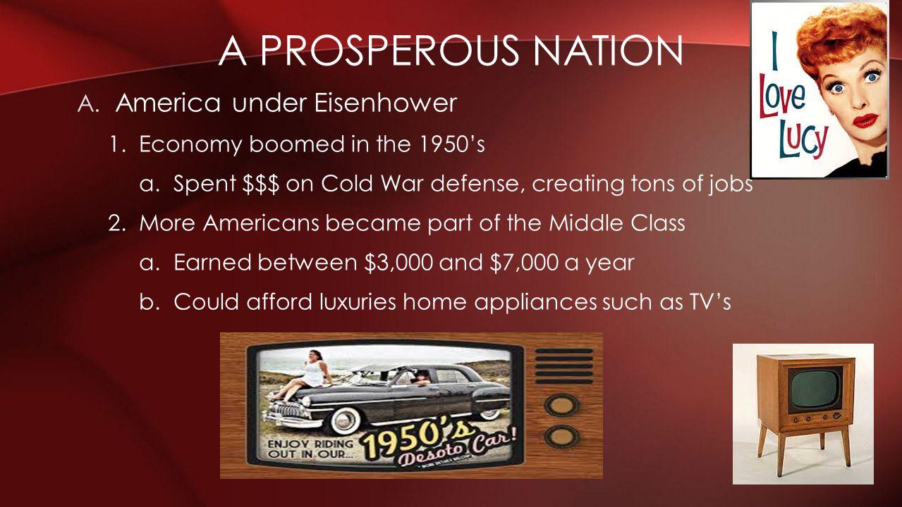 A prosperous nation America under Eisenhower