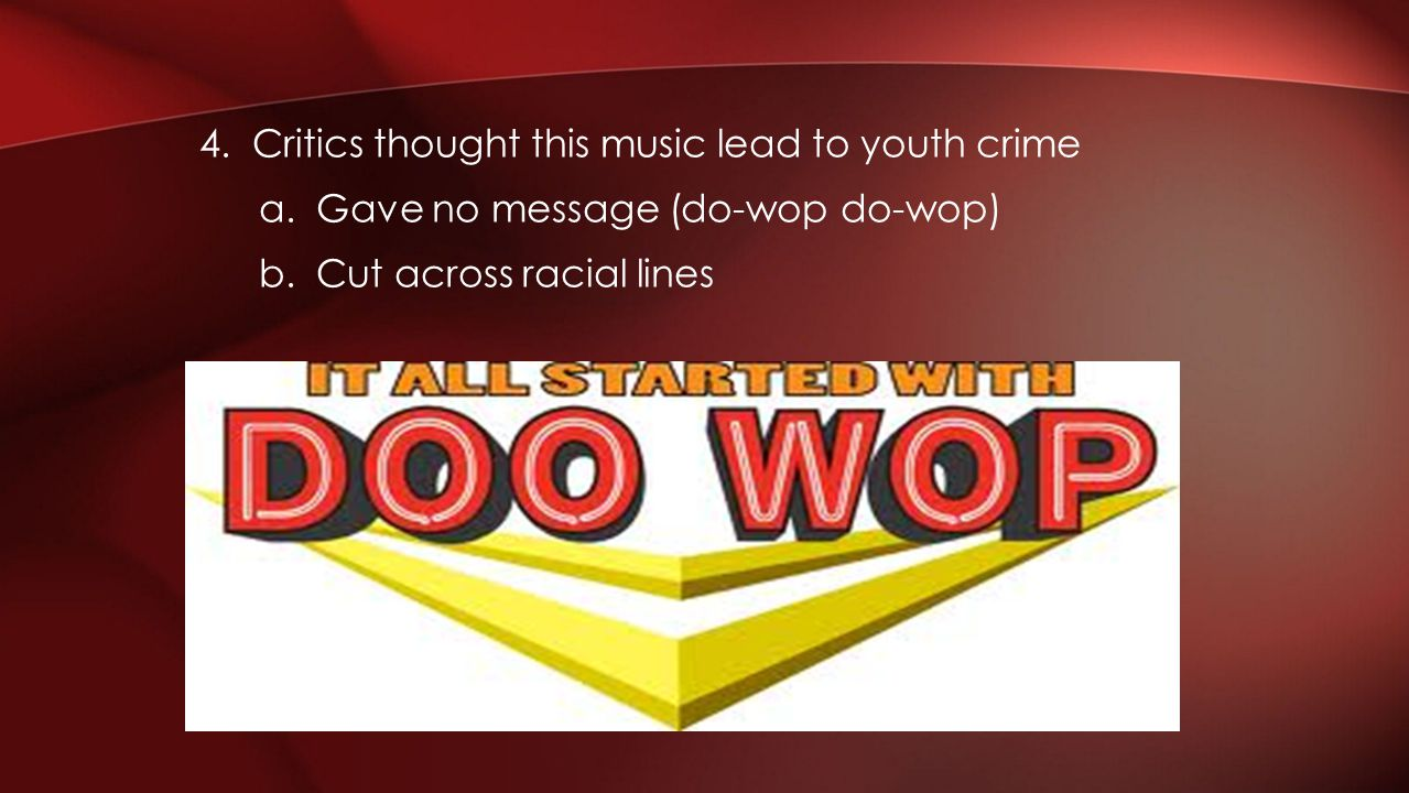 4. Critics thought this music lead to youth crime