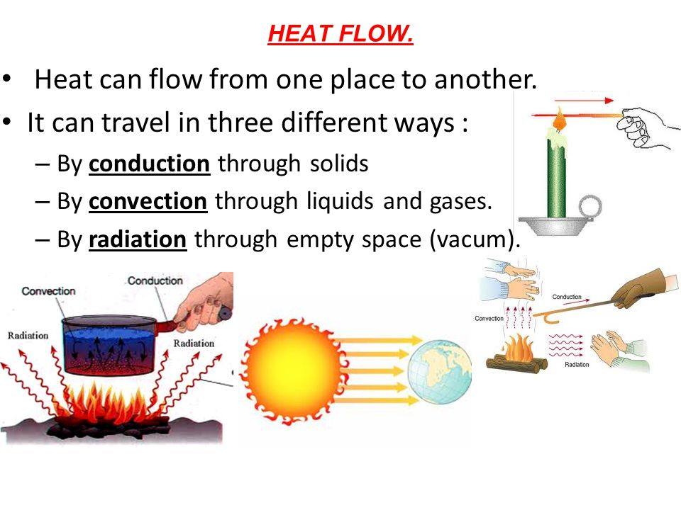Heat can flow from one place to another.
