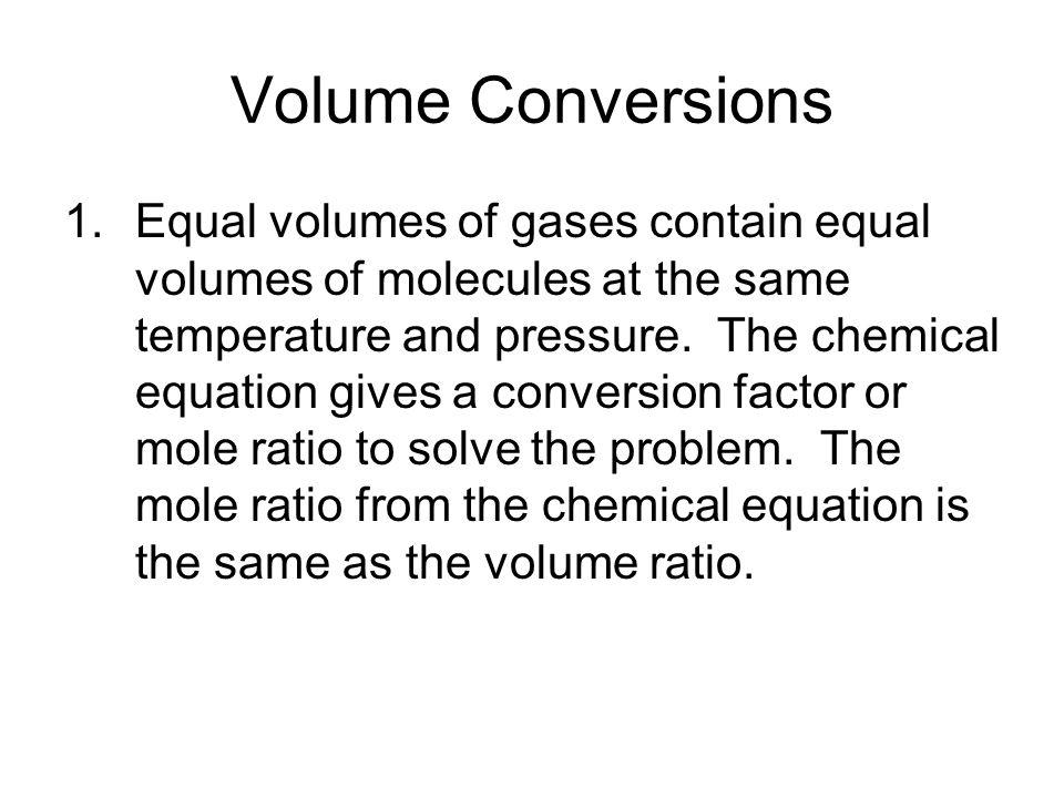 Volume Conversions