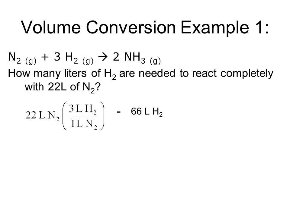 Volume Conversion Example 1: