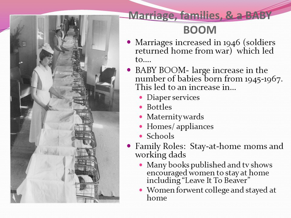 Marriage, families, & a BABY BOOM