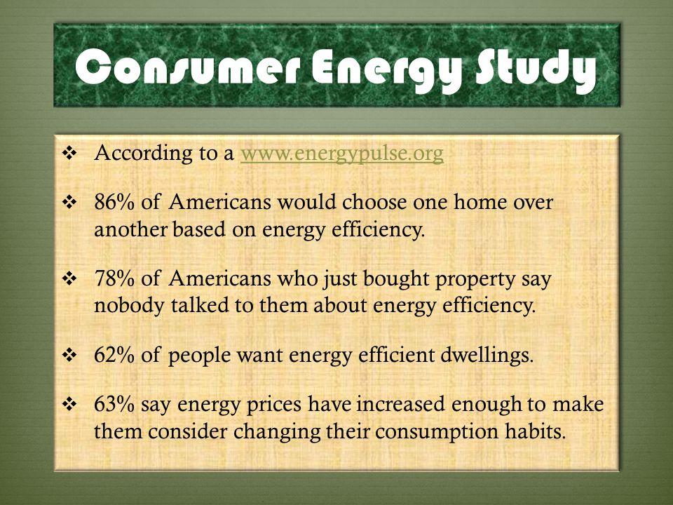 Consumer Energy Study According to a www.energypulse.org