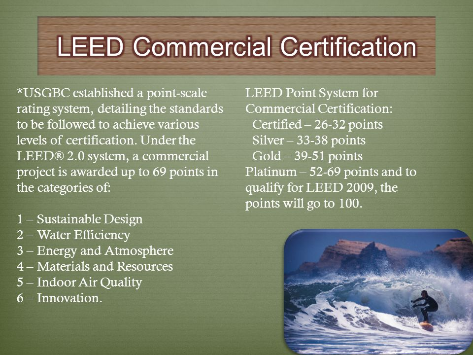 LEED Commercial Certification