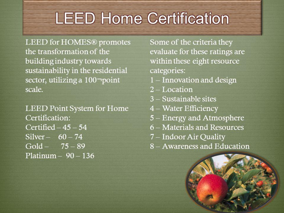 LEED Home Certification