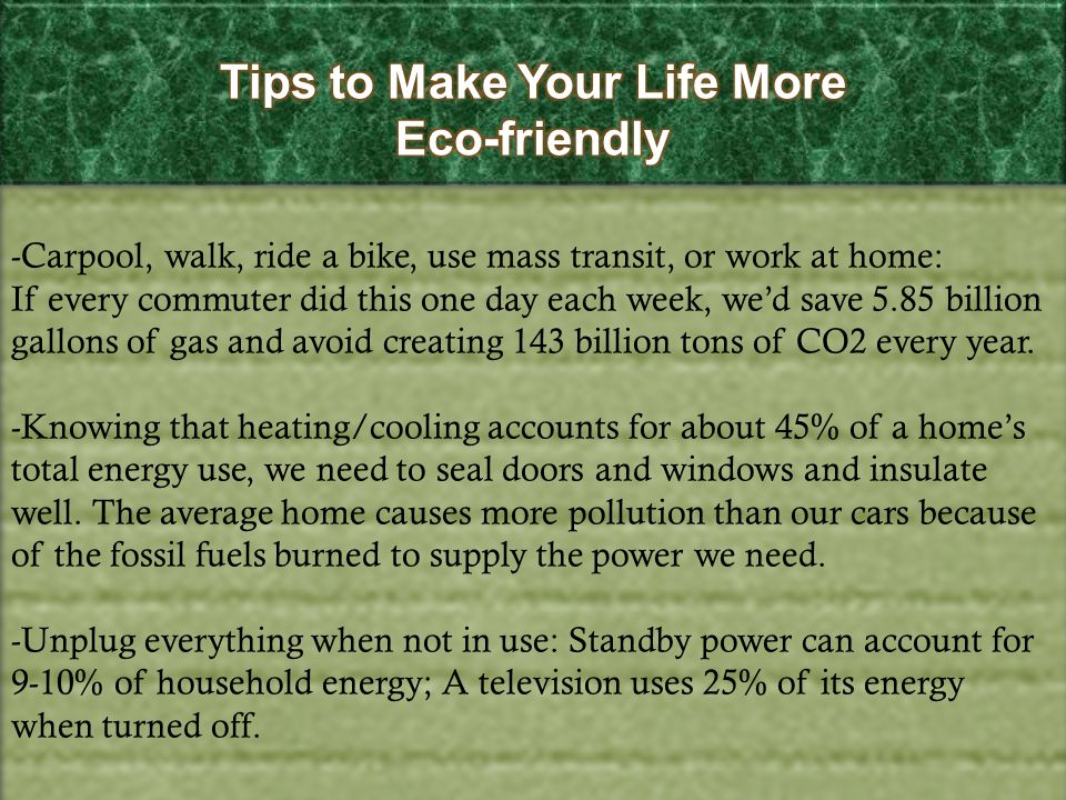 Tips to Make Your Life More Eco-friendly