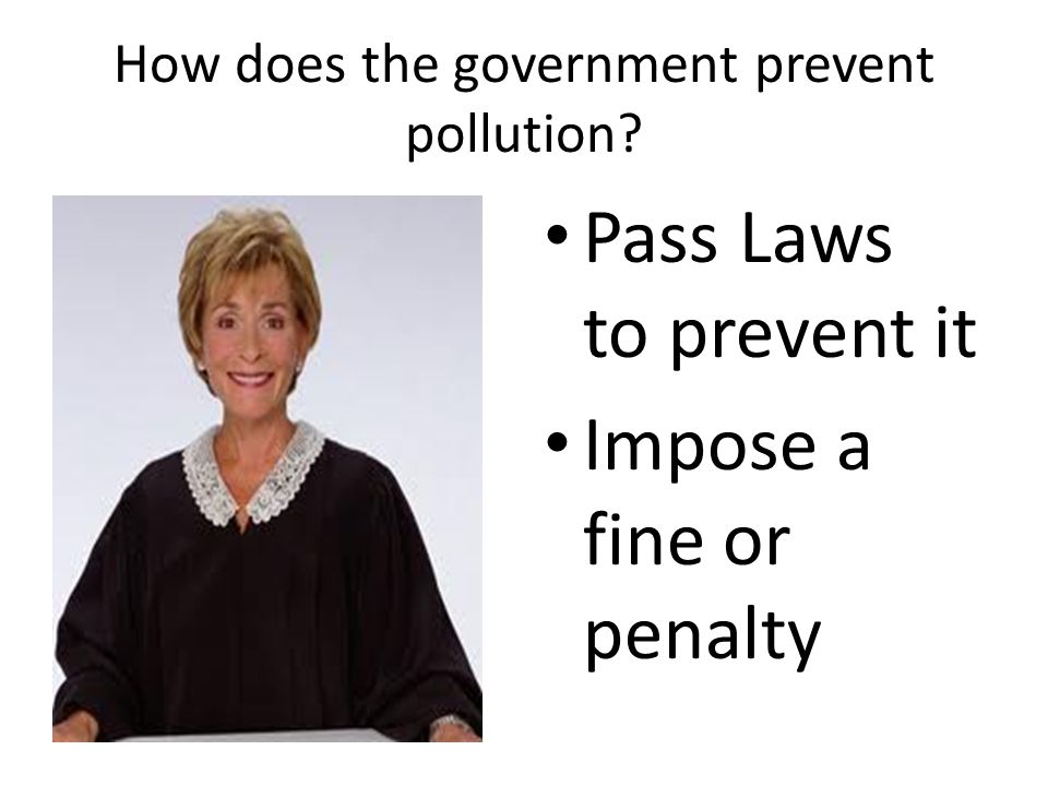 How does the government prevent pollution