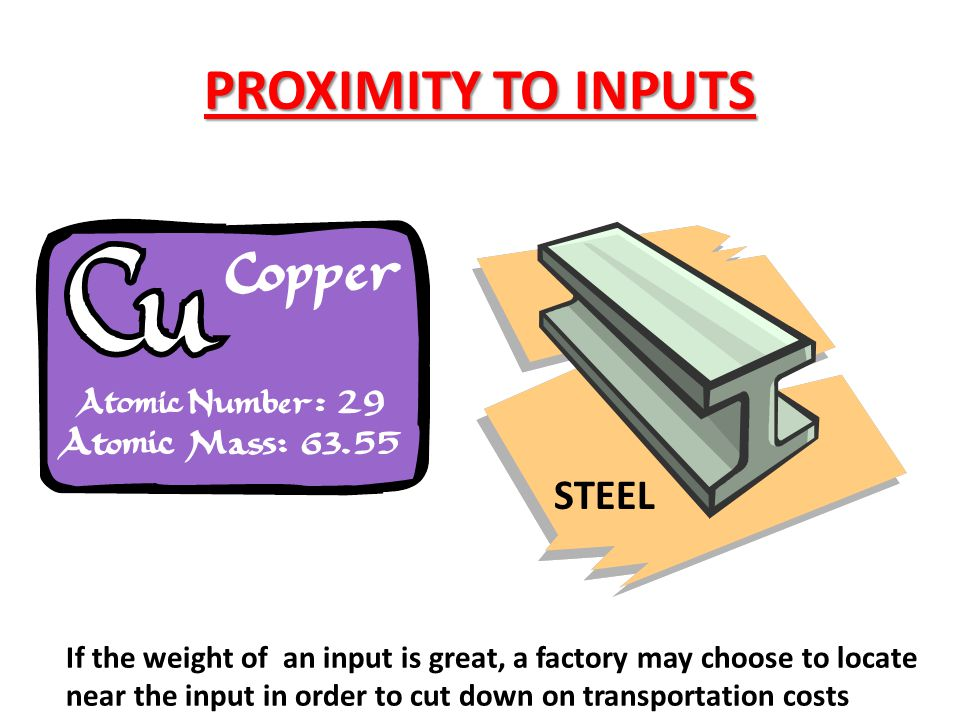 PROXIMITY TO INPUTS STEEL