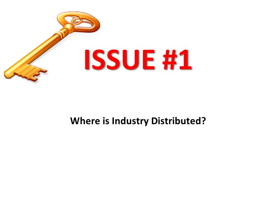 Where is Industry Distributed