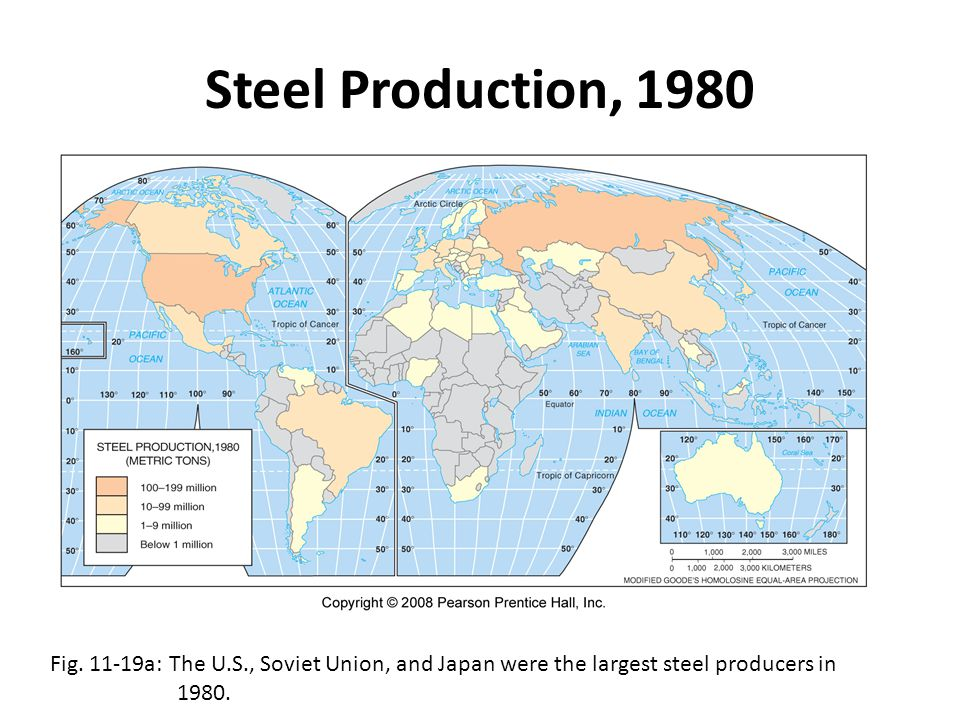Steel Production, 1980 Fig.