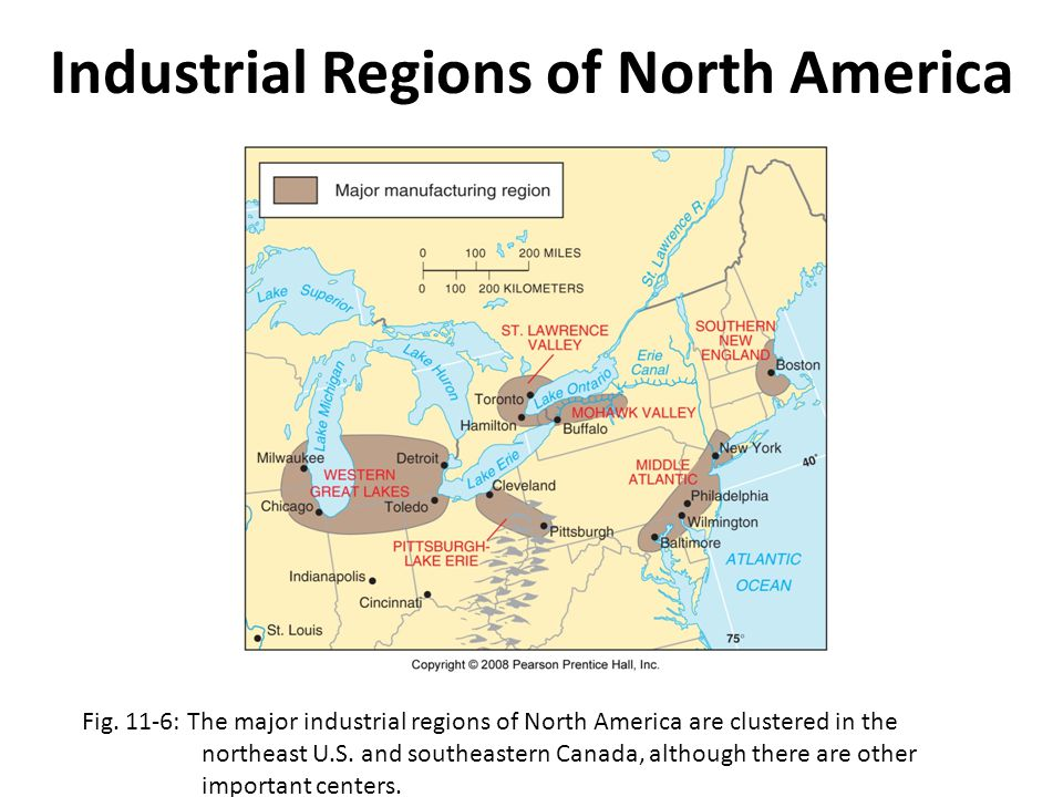 Industrial Regions of North America
