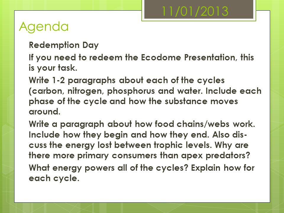11/01/2013 Agenda