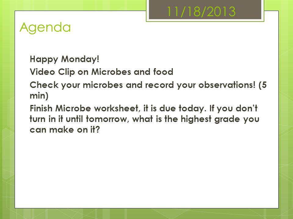 11/18/2013 Agenda