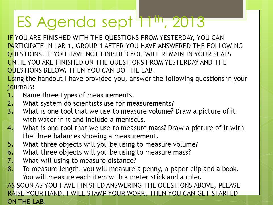 ES Agenda sept 11th, 2013