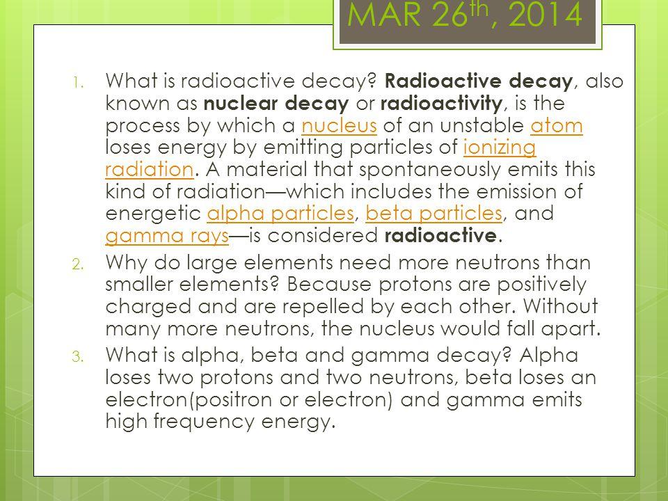 MAR 26th, 2014