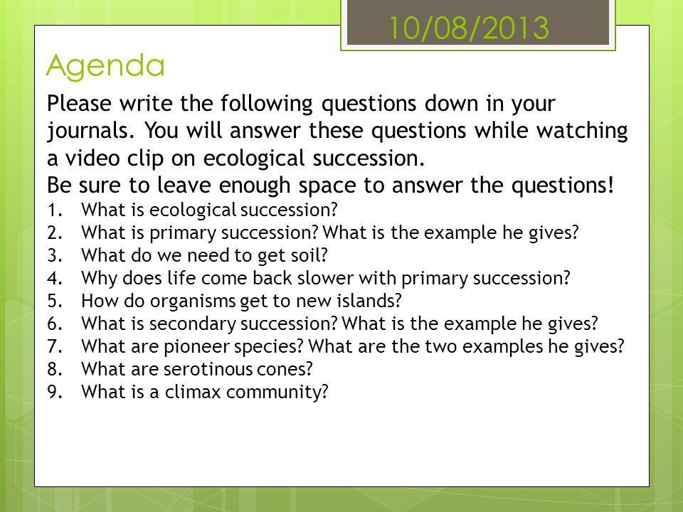 10/08/2013 Agenda