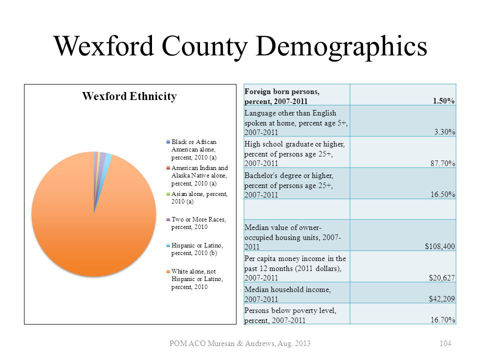 Wexford County Demographics