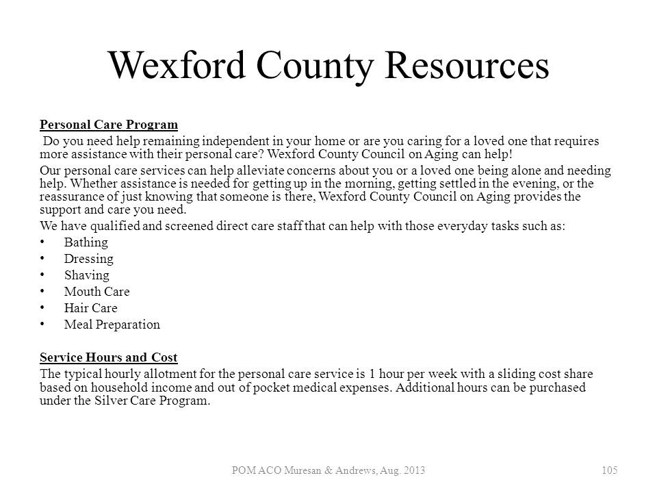 Wexford County Resources