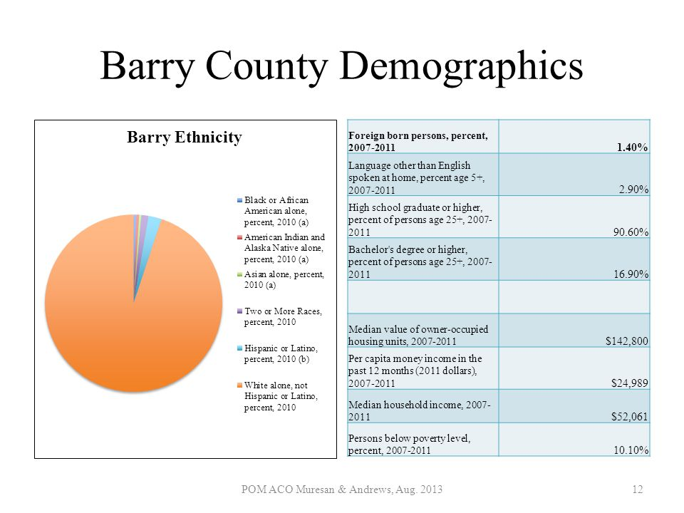Barry County Demographics