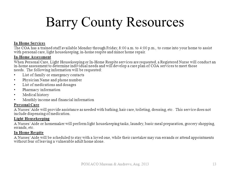 Barry County Resources