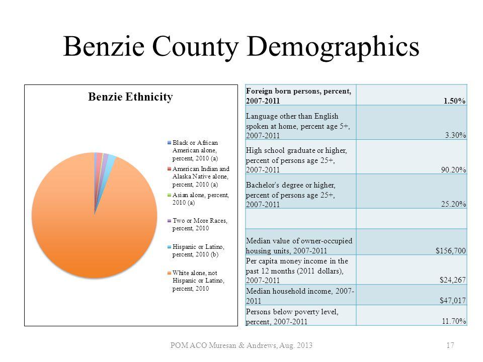 Benzie County Demographics
