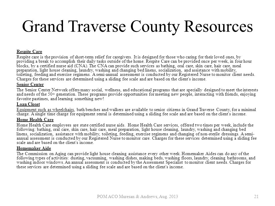Grand Traverse County Resources