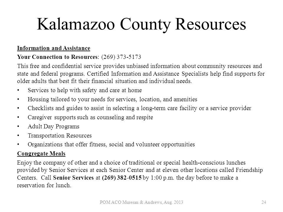 Kalamazoo County Resources