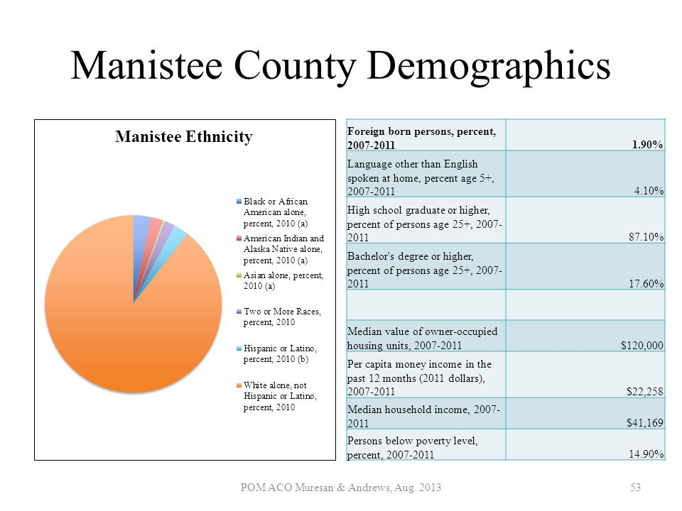 Manistee County Demographics