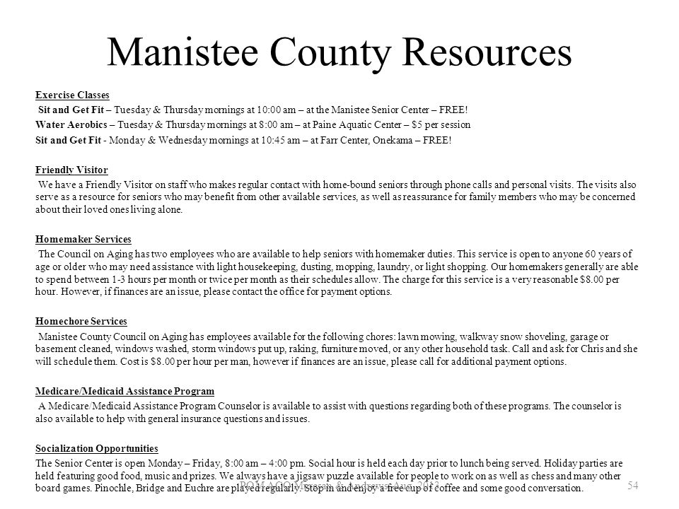 Manistee County Resources